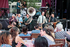 """Montreal Dixie"" at the Montreal Jazz Festival, 2017. ""Montreal Dixie"" at the Club Jazz Casino de Montréal à la place July, 2017 - Montreal Jazz Stock Photos"