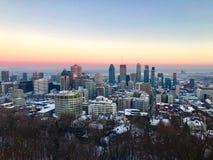 Montreal do centro Quebeque Canadá Fotografia de Stock Royalty Free