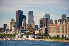 Montreal Downtown. And Saint-Lawrence River Stock Photo