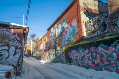 Montreal downtown alley Stock Image