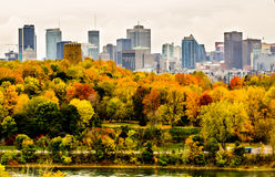 Montreal downtown in the autumn Royalty Free Stock Photo