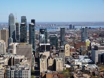 Montreal downtown from Mont Royal royalty free stock photography
