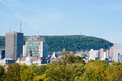 Montreal downtown and mount-royal Royalty Free Stock Images
