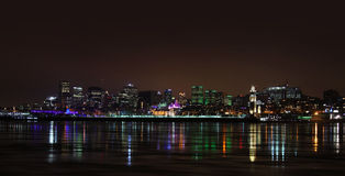 Montreal downtown in night Royalty Free Stock Image