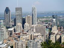 Montreal downtown skyline Royalty Free Stock Photo