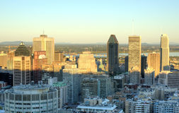 Montreal Downtown at Sunset Stock Photography