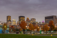 Montreal Downtown at sunset Stock Photo