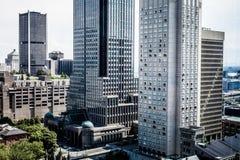 Montreal drapacze chmur Zdjęcia Royalty Free