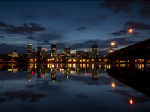 Montreal at dusk. From the waterfront Stock Photography