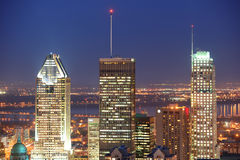 Montreal at dusk Stock Photography