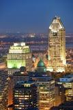 Montreal at dusk Stock Photos