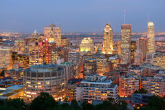 Montreal at dusk Stock Image