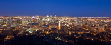 Montreal-Einbruch der Nacht lizenzfreies stockbild