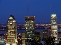 Montreal em a noite fotos de stock royalty free
