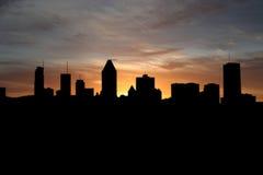 Montreal en la puesta del sol Fotografía de archivo