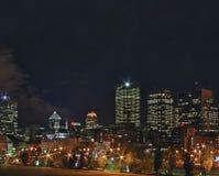 Montreal entro la notte! Immagine Stock