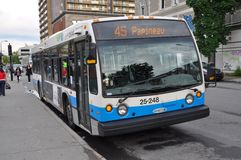 Montreal Express Bus Stock Photography