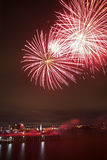 Montreal fireworks Royalty Free Stock Photography