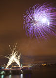 Montreal fireworks Royalty Free Stock Photo