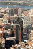 Montreal flyg- sikt Arkivfoto