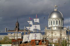 montreal gammal port Arkivbild