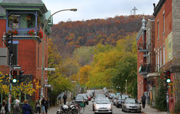 Montreal gata Royaltyfria Foton