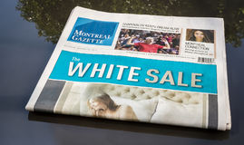 Montreal Gazette Royalty Free Stock Photography