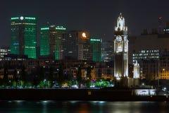 Montreal-Glockenturm nachts Stockfoto