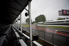 Montreal Grand prix racing track. Seen from the VIP platinum paddocks. view of the Ayrton Senna Curve stock photo