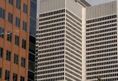 Montreal - grattacieli del particolare di architettura immagini stock