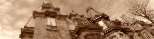 Montreal-Häuser stockbilder