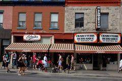 Montreal Hebrew Delicatessen. Stock Photo