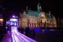 Montreal High Lights Festival Royalty Free Stock Photography