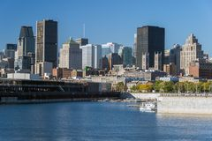 Montreal horisont Royaltyfria Foton