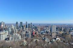 Montreal horisont från den Kondiaronk belvederen Arkivfoto