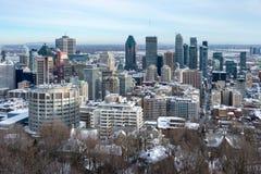 Montreal horisont från den Kondiaronk belvederen fotografering för bildbyråer