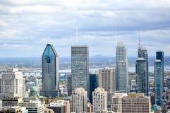 Montreal horisont i nedgången, Kanada Fotografering för Bildbyråer
