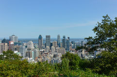 Montreal horisont i sommar Royaltyfria Foton