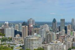 Montreal horisont i sommar Arkivbilder