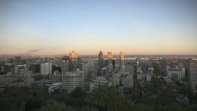Montreal horisont Timelapse stock video