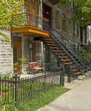 Montreal houses Stock Photography