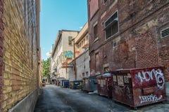 Montreal i stadens centrum gränd Arkivfoton