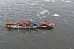 Montreal Ice Canoe Challenge Royalty Free Stock Image