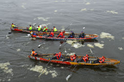 Montreal Ice Canoe Challenge Stock Photos