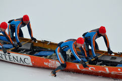 Montreal Ice Canoe Challenge Royalty Free Stock Images