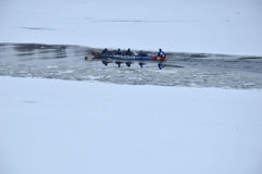 Montreal Ice Canoe Challenge Stock Images