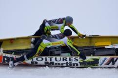 Montreal Ice Canoe Challenge Royalty Free Stock Photo