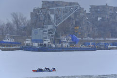 Montreal Ice Canoe Challenge Stock Image