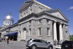 Montreal, il 26 giugno: Edificio della Marche Bonsecours sulla via di Saint Paul da Montreal nella provincia della Quebec del Can Fotografia Stock
