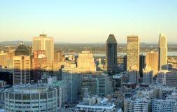 Montreal im Stadtzentrum gelegen am Sonnenuntergang Stockfotografie